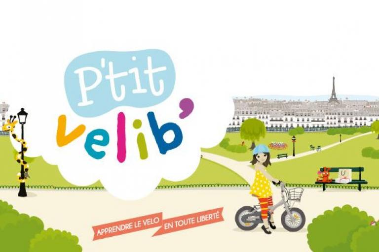 Paris P'tit Velib' - a cycle hire scheme for children aged 2-8 (courtesy blog.velib.paris.fr)