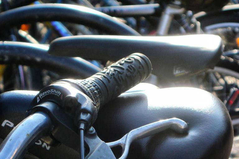 Parked bikes (copyright Simon MacMichael)_