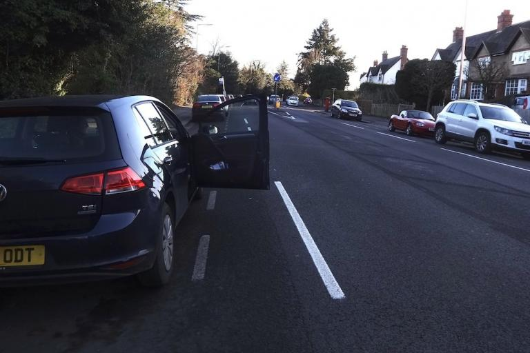 Reading Wokingham Road bike lane removed