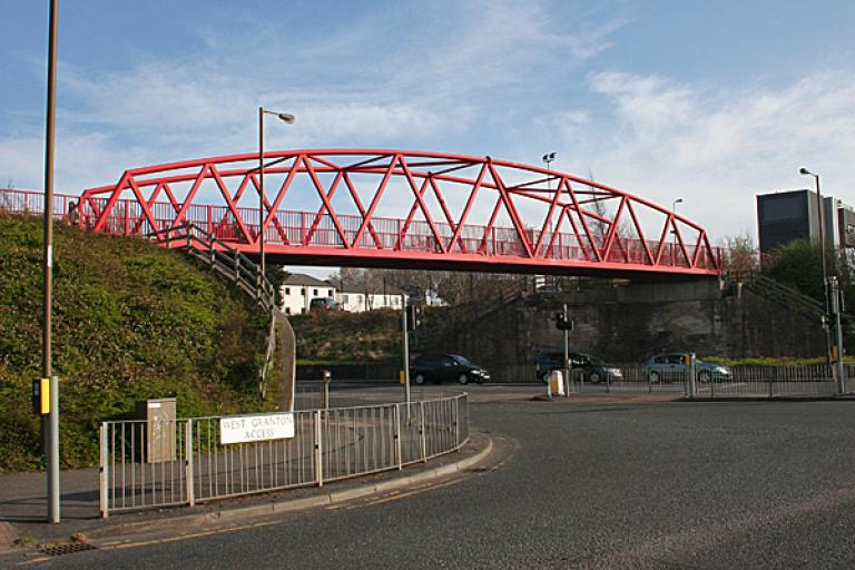 Red Bridge, Edinburgh licensed by Anne Burgess under CC BY-SA 3.0 on Geograph.org.uk