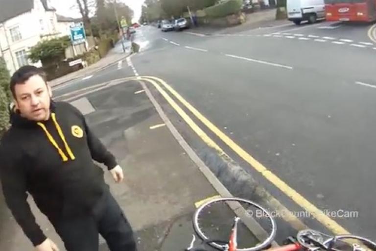Road rage van driver (Black Country Bike Cam YouTube still)