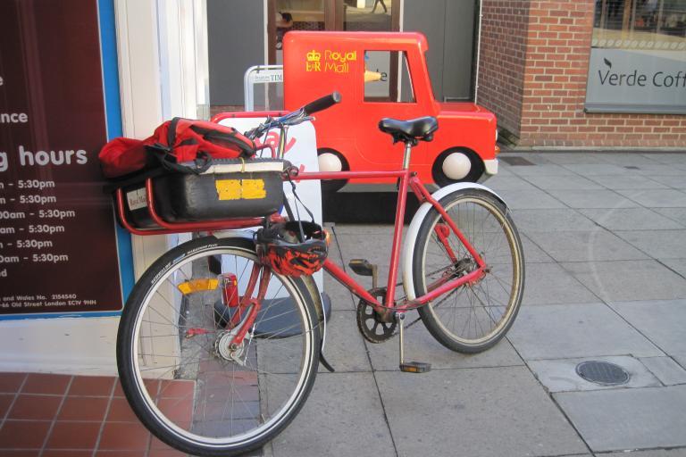 Royal Mail bike postman