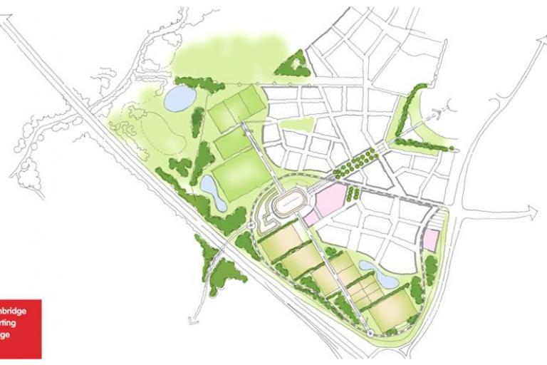 Proposed Cambridge Sports Village (© Terence ORourke Ltd 2013)