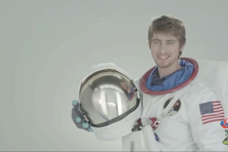 Astronaut Sagan - don't ask us (image via Peter SagFan's YouTube account)