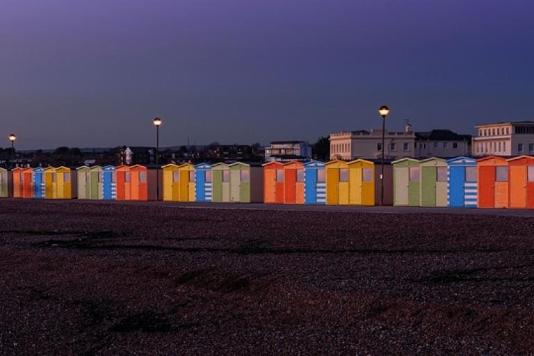Seaford beach huts (CC licensed by Tom Lee via Flickr)