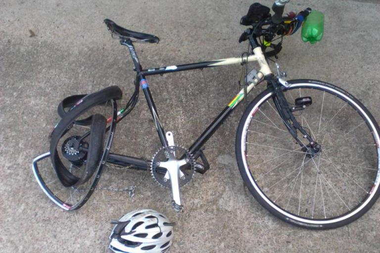 Sean Conway bike (picture - Sean Conway, Facebook)
