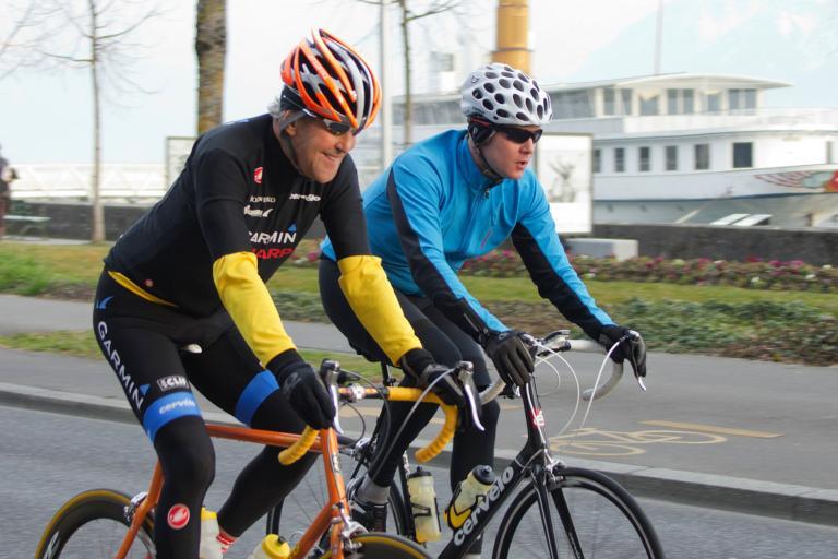 Secretary John Kerry taking a bike ride in Lausanne (CC BY-ND 2.0 US Mission Geneva)