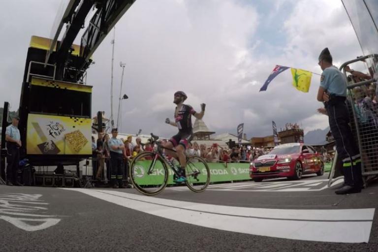 Simon Geschke wins TdF 2015 Stage 17 Velon YouTube still