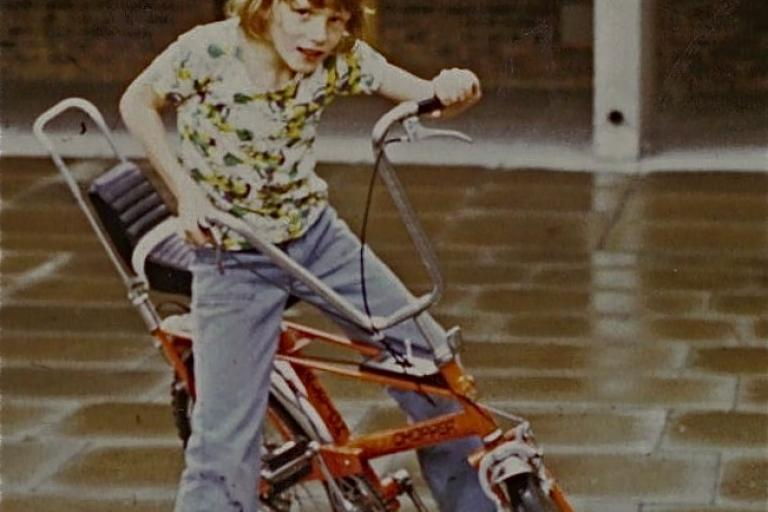 Simon on Raleigh Chopper