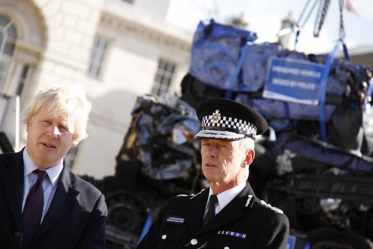 Sir Bernard Hogan-Howe and Boris Johnson
