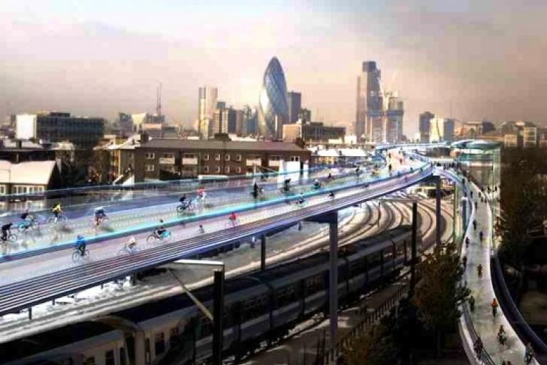 SkyCycle image (picture - Foster and Partners)