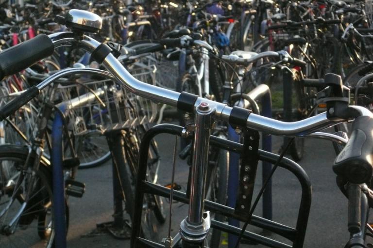 Station bike parking (copyright Simon MacMichael)