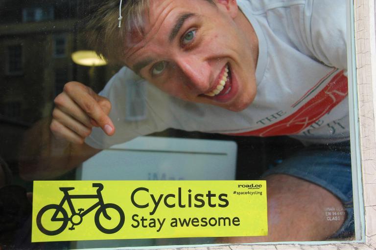 Stay Awesome window sticker