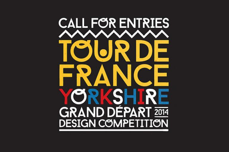 Grand Depart poster design flyer (image via www.thecyclehub.org and www.skedaddle.co.uk)
