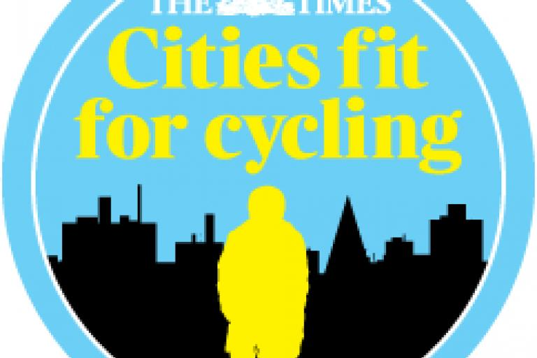 The Times Cities Fit For Cycling logo