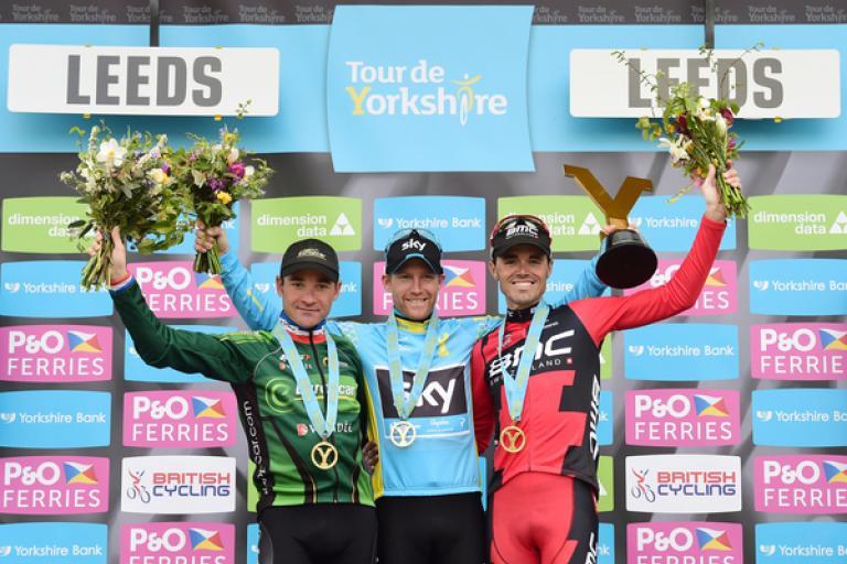 Tour de Yorkshire 2015 final podium (SWPix, Welcome to Yorkshire)