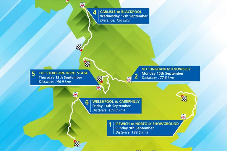 Tour of Britain route 2012