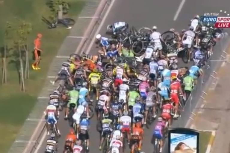 Tour of Turkey 2013 S2 crash YouTube still