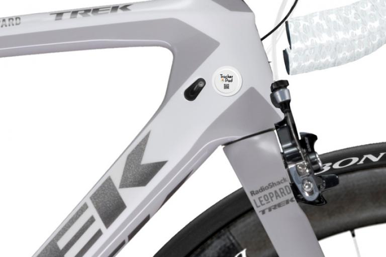 TrackerPad – a small GPS sticker you can apply to your bike in case