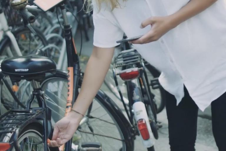 Unlocking AirDonkey bike (still from promotional video)