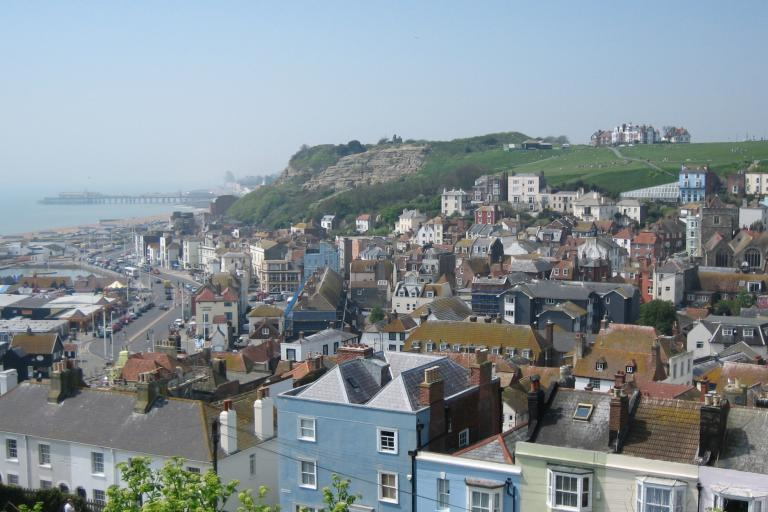 View of Hastings from East Hill