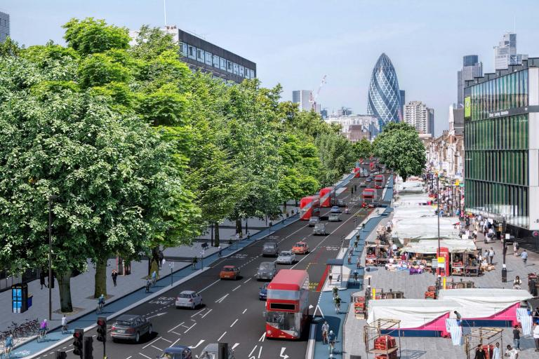 Proposed improvement to Cycle Superhighway 2 on Whitechapel High Street