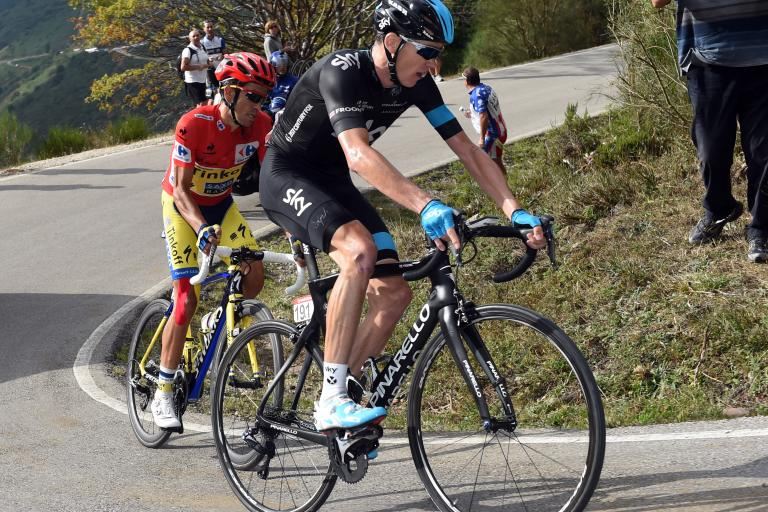 Vuelta 2014 S16 Chris Froome and Alberto Contador (picture Unipublic, Graham Watson)