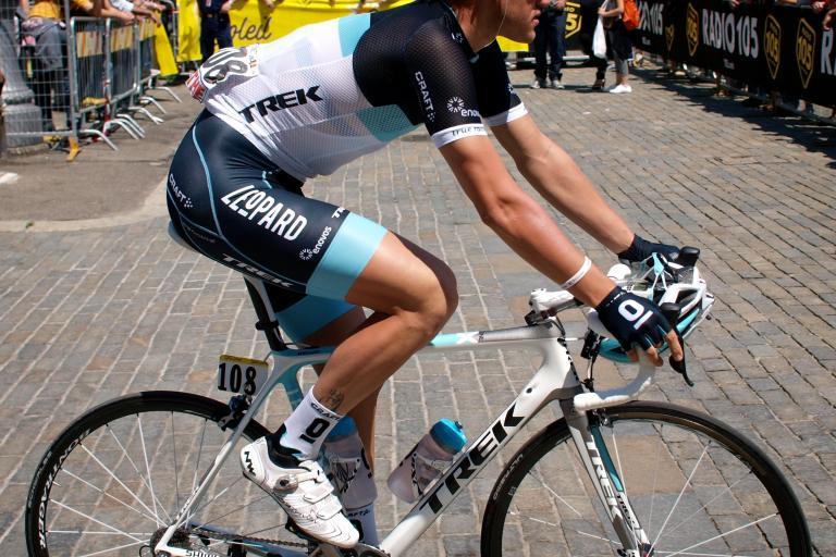 Wouter Weylandt at Stage 3 start of 2011 Giro c Simon MacMichael.jpg