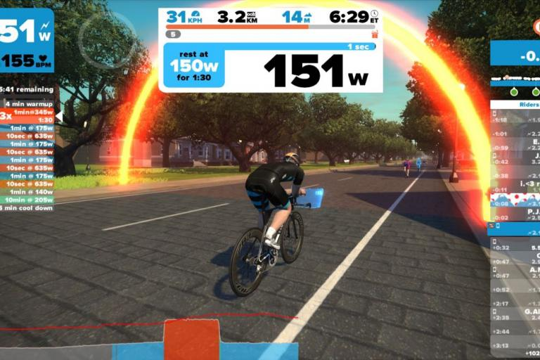 Zwift screen 8 - 1