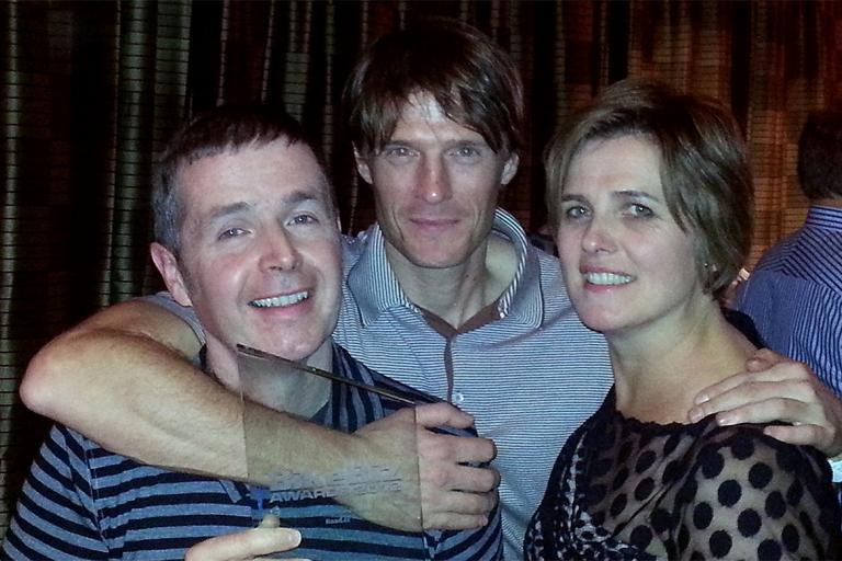 Tony, Mat and Elaine with the Bikebiz award