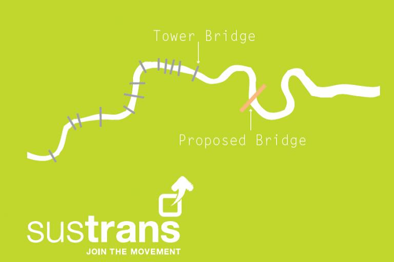 proposed Canary Wharf-Rotherhithe bridge Sustrans.png