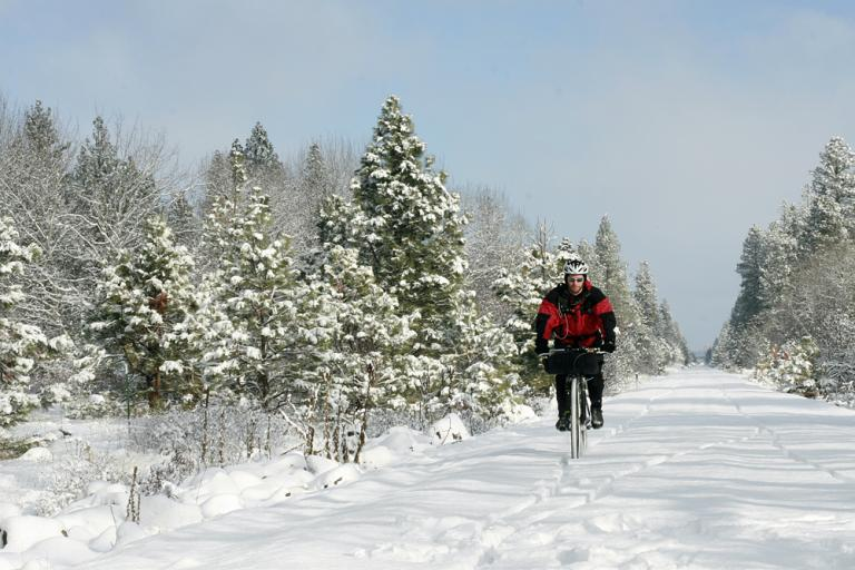 snow cycling copyright David Blaine