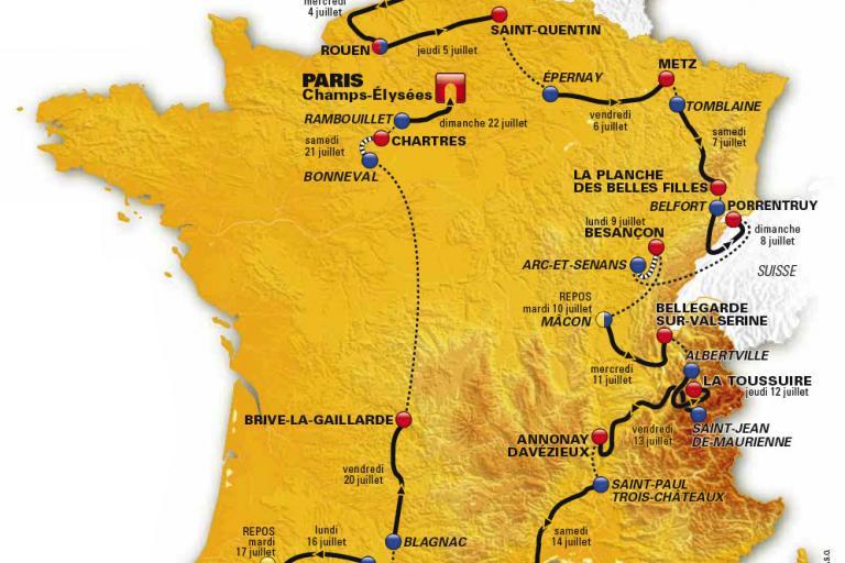 Tour de France 2012 route