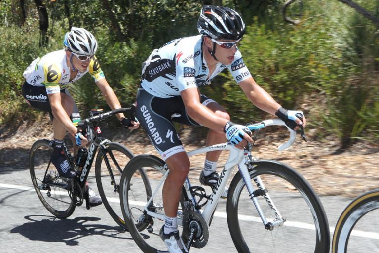 Richie Porte during Stage 5 of the 2011 Santos Tour Down Under (pic Santos Tour Down Under)