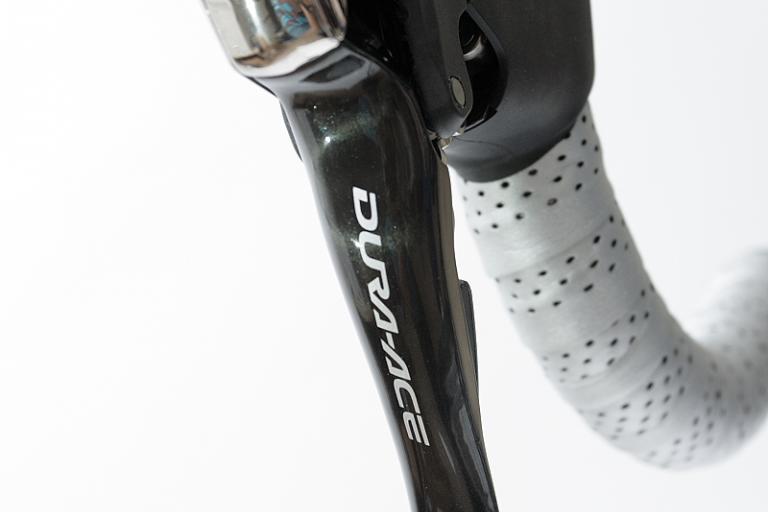 Shimano Dura Ace lever close-up