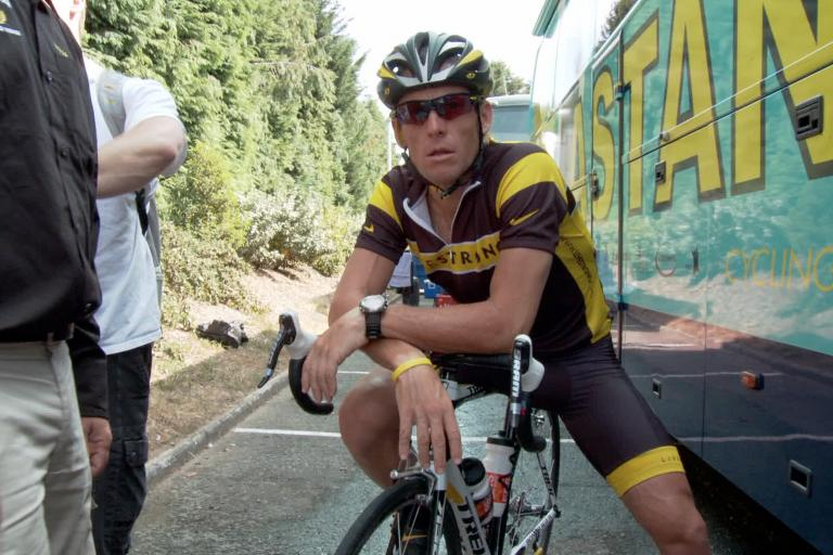 Lance Armstrong on bike Photo by Maryse Alberti, Courtesy of Sony Pictures Classics