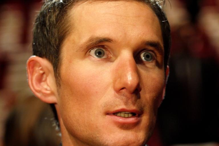 Frank Schleck at the 2011 Tour de France Presentation © Simon MacMichael