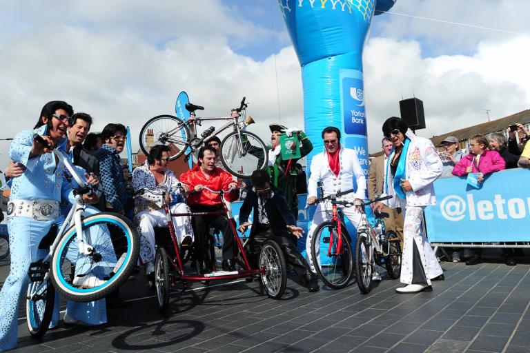 TdY 2015 S1 Elvis impersonators (picture SWPix.com)