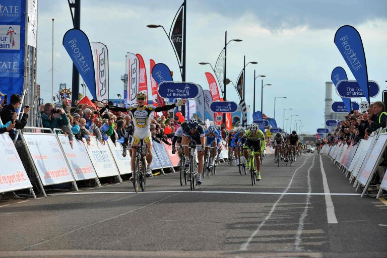 Andre Greipel takes the win in Great Yarmouth (picture credit The Tour of Britain)
