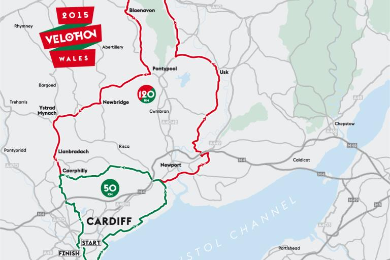 Velothon Wales course map.png