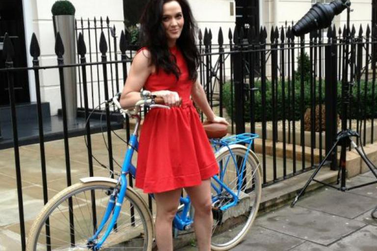 Victoria Pendleton bike launch London