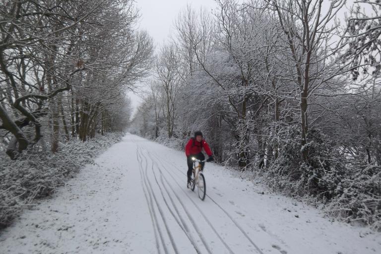 Bath Bristol Bike Path- riding in the snow.JPG