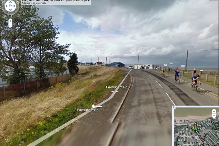 Jurek waving on Google Street View