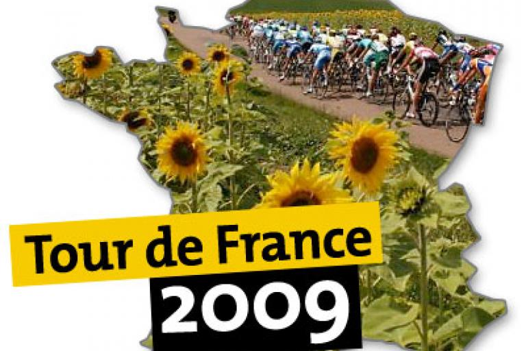 Tour de France 2009 sunflower logo