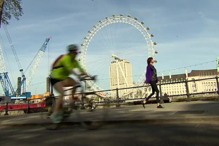Janet Street-Porter making full use of one of the capital's underfunded pedestrian lanes (via iPlayer).jpg