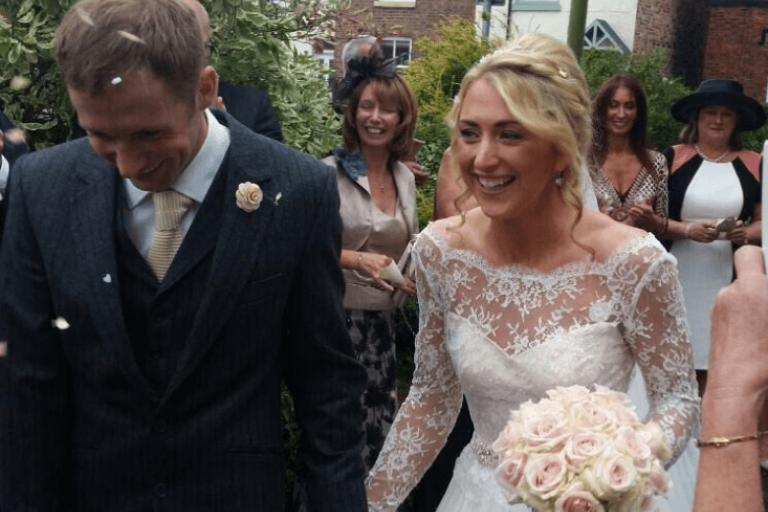 Jason Kenny and Laura Trott get married - image via Adrian Trott on Twitter.PNG