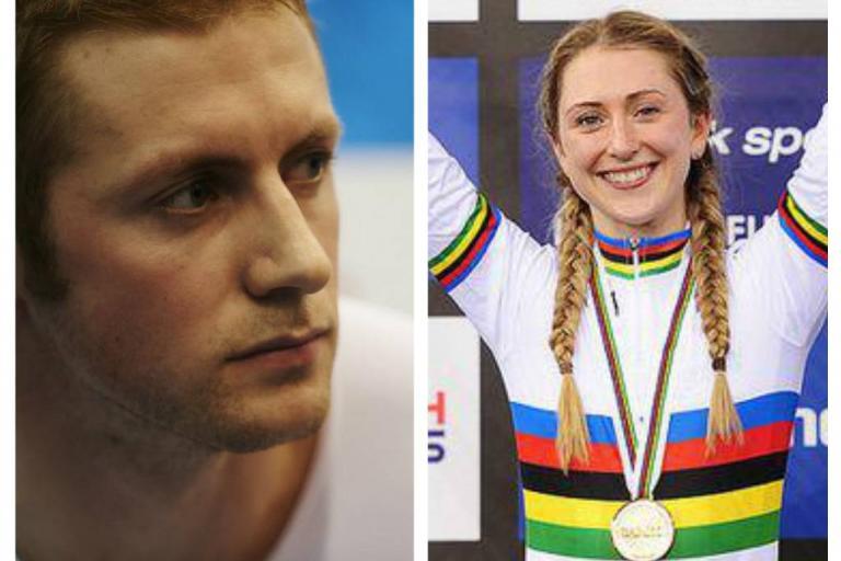 Jason Kenny and Laura Trott - images via British Cycling (dot) Org.jpg