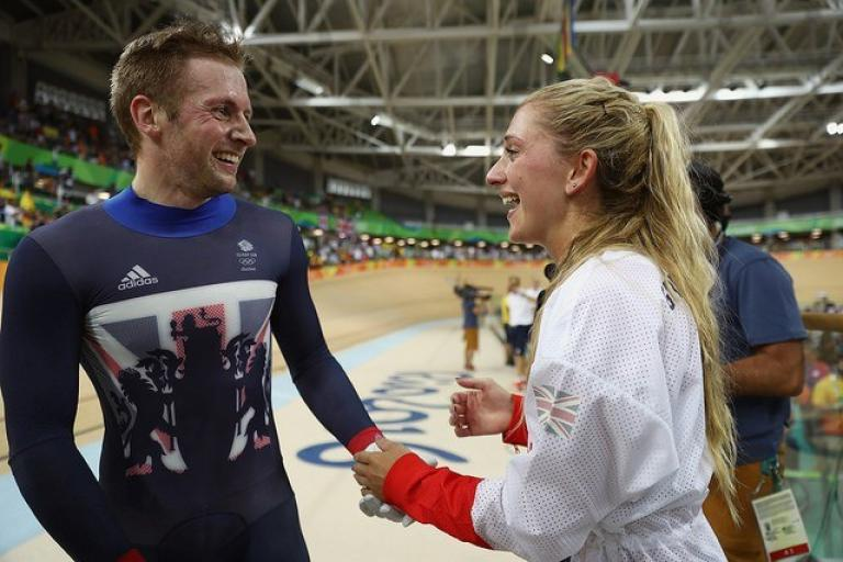 Jason Kenny and Laura Trott at Rio 2016 (picture Bryn Lennon, Getty, via Britishcycling.org_.uk).jpg