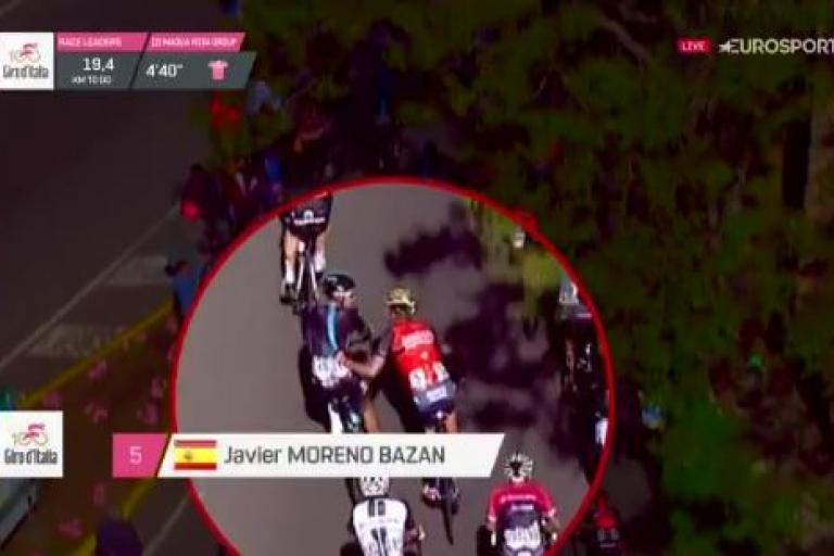 Javier Moreno pulls back Diego Rosa during 2017 Giro d'Italia.JPG