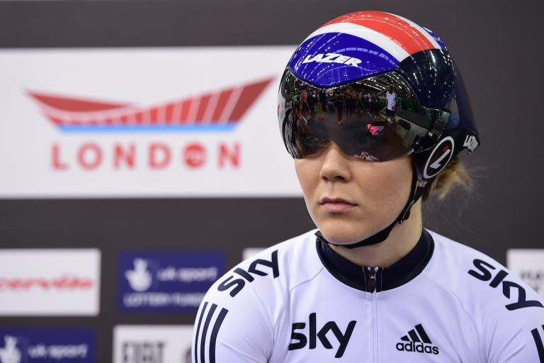 Jess Varnish at the 2016 UCI Track Cycling World Championships in London (picture credit SWPix.com).JPG